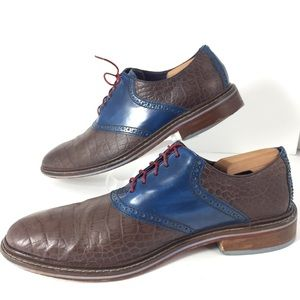 Cole Haan Colton Croc Embossed Leather Oxford 11.5
